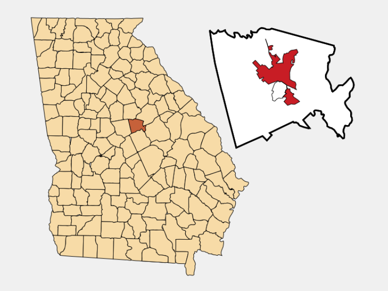 Milledgeville locator map