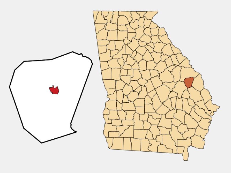 Millen location map