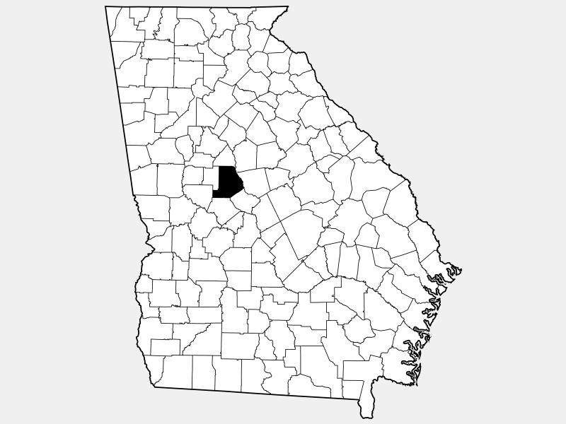 Monroe County locator map