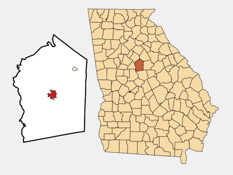 Monticello locator map