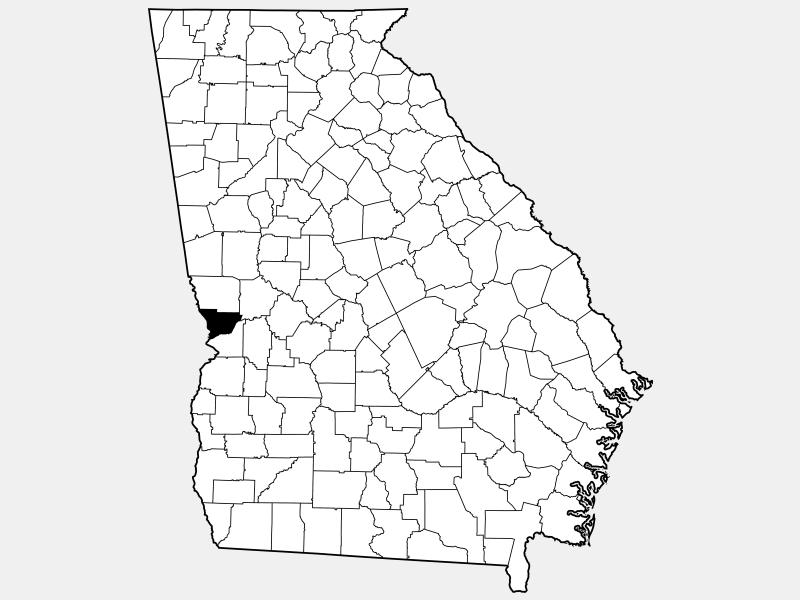 Muscogee County locator map