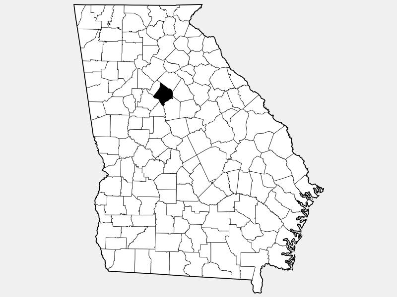 Newton County locator map