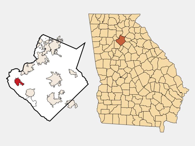 Norcross locator map