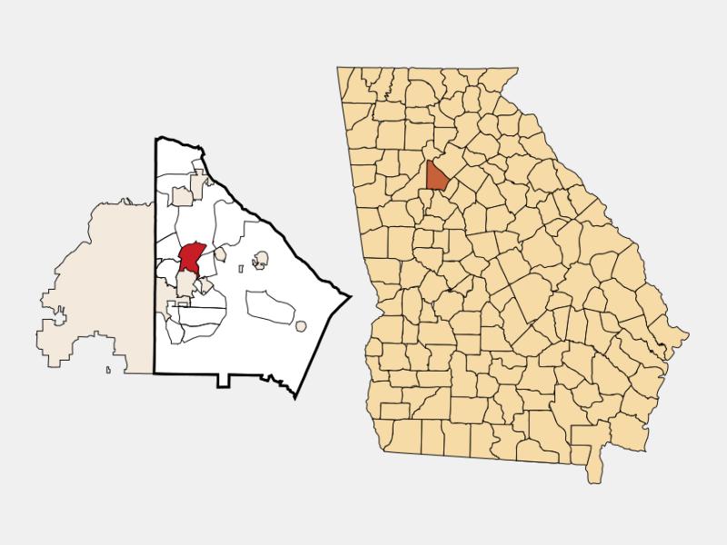 North Decatur locator map