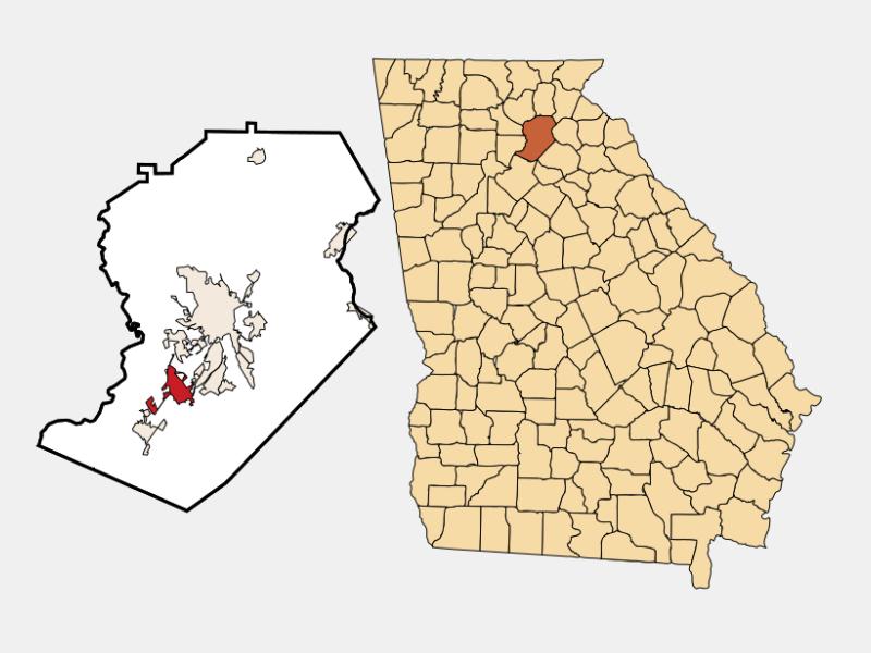 Oakwood locator map