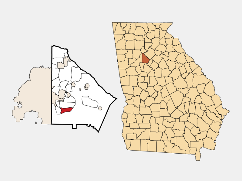 Panthersville locator map