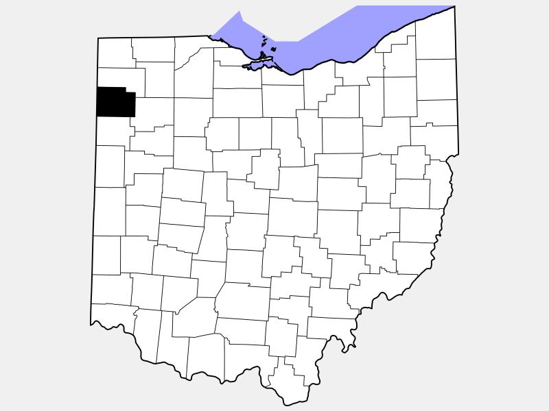 Paulding County locator map