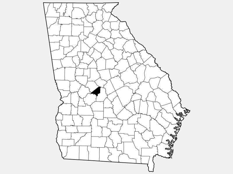 Peach County locator map