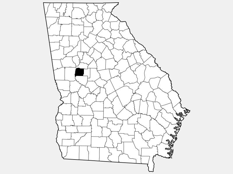 Pike County locator map