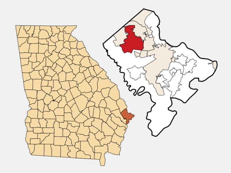 Pooler locator map