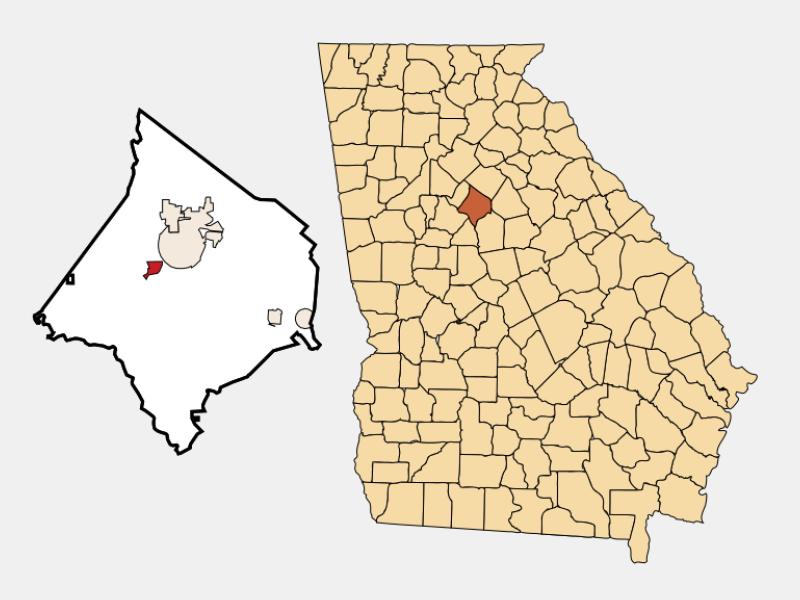 Porterdale location map
