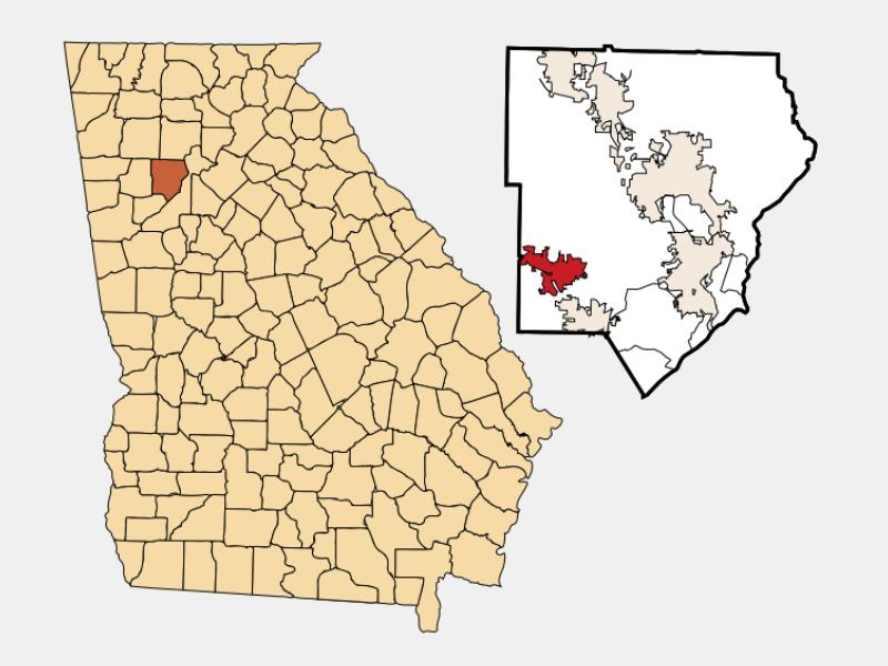Powder Springs locator map