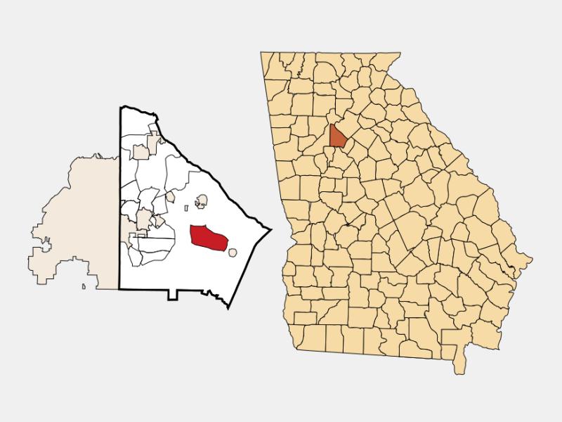 Redan locator map