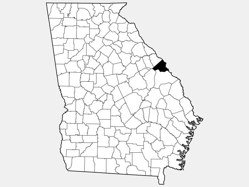 Richmond County locator map