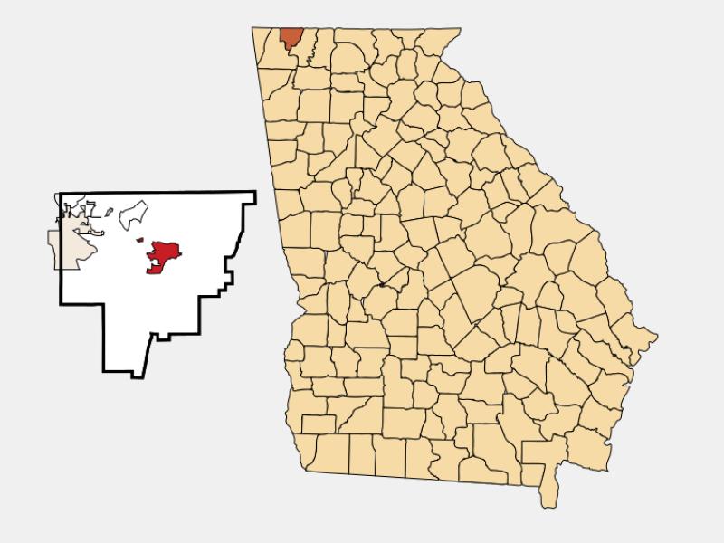 Ringgold locator map
