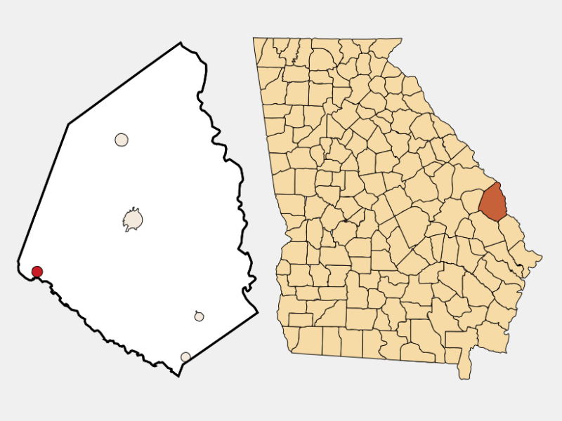 Rocky Ford location map