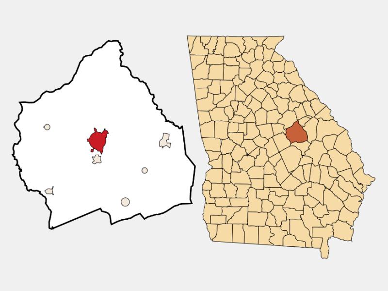 Sandersville locator map