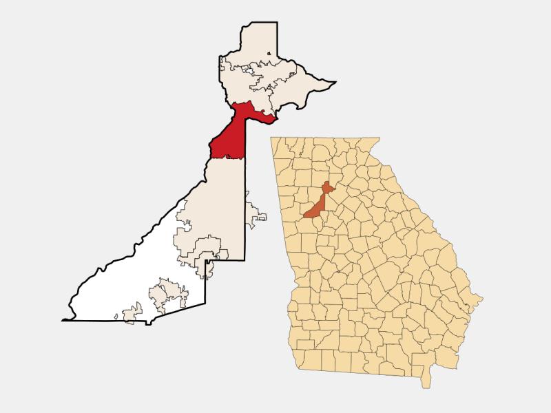 Sandy Springs locator map