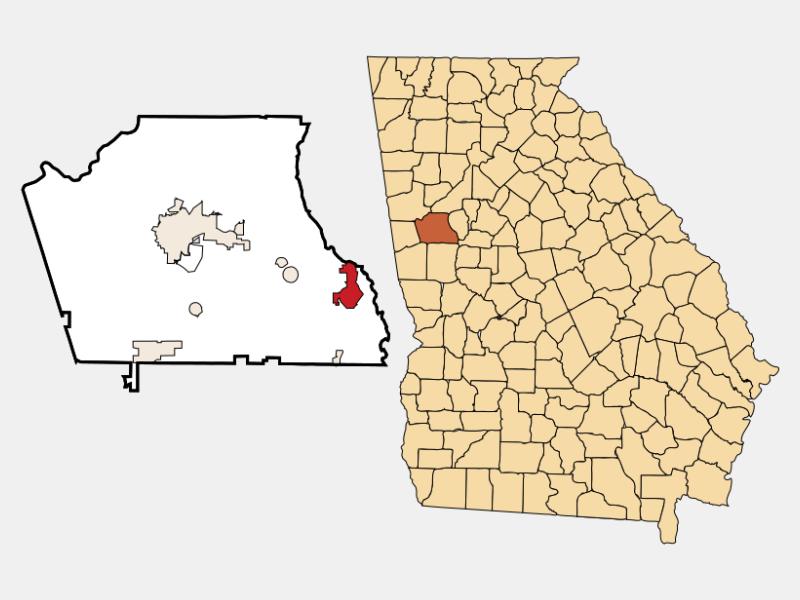 Senoia location map