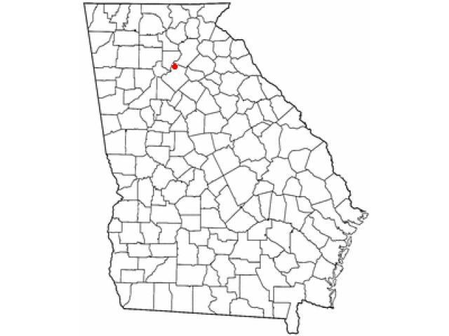Sugar Hill locator map