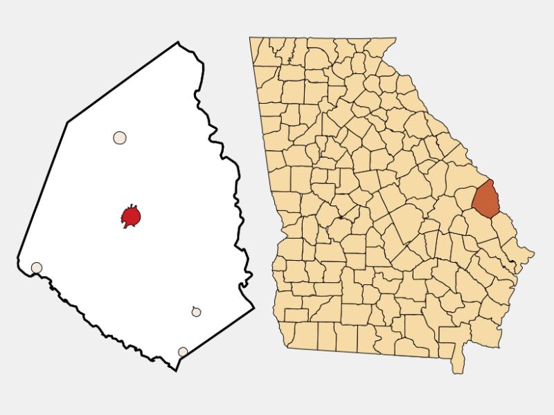 Sylvania location map