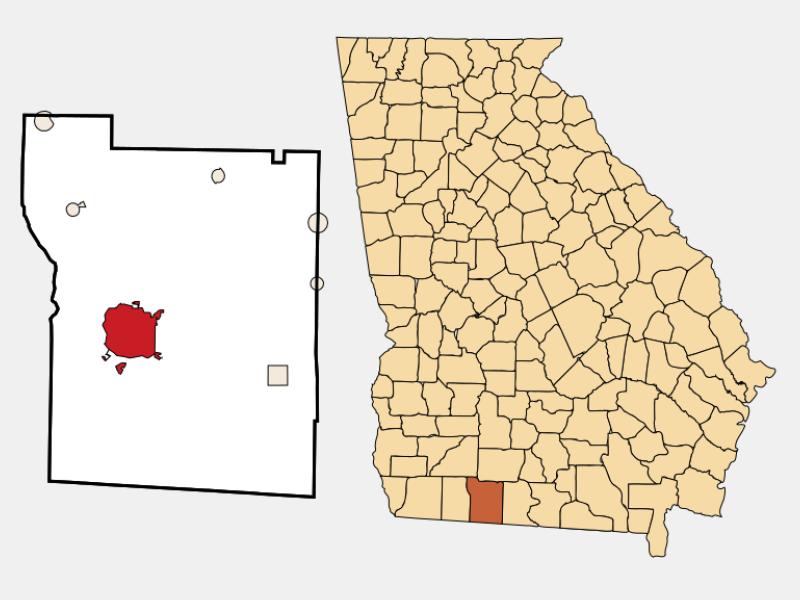 Thomasville locator map