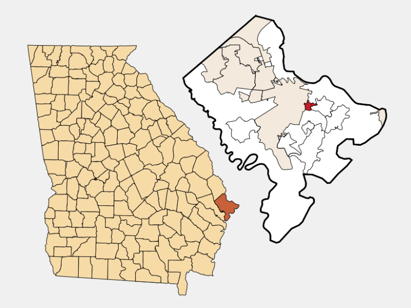 Thunderbolt locator map