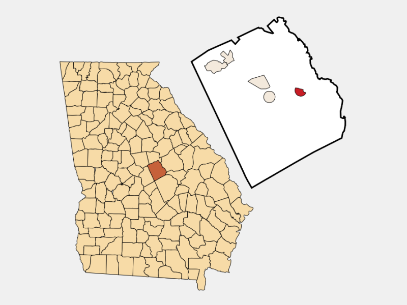 Toomsboro location map