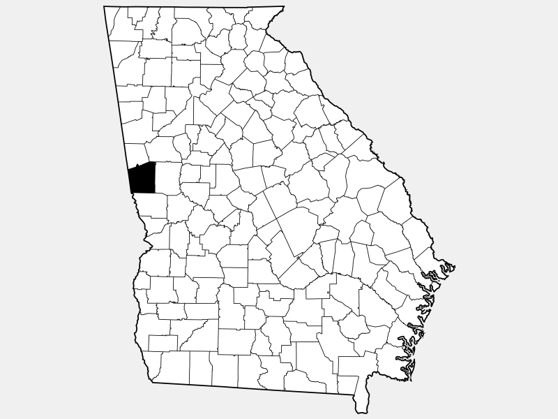 Troup County locator map
