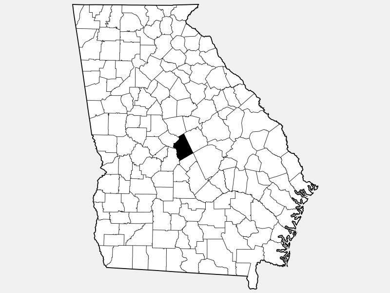 Twiggs County locator map
