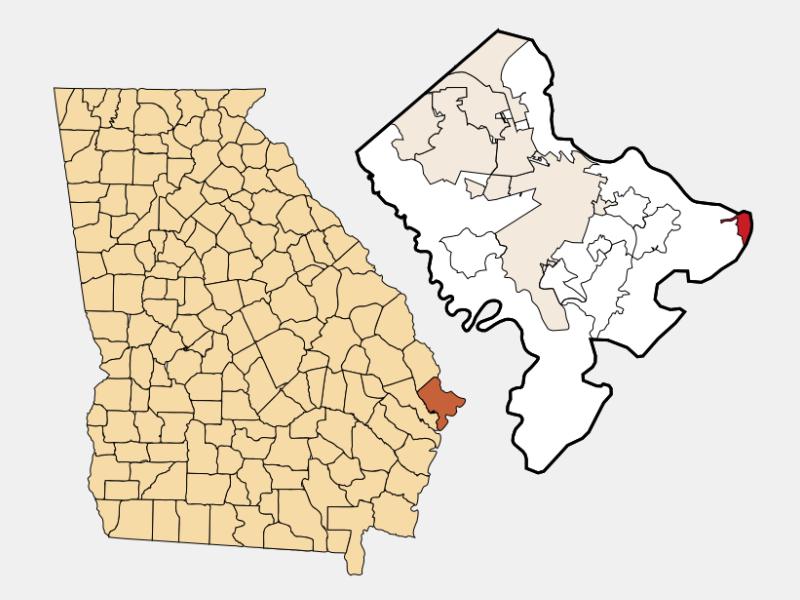 Tybee Island locator map