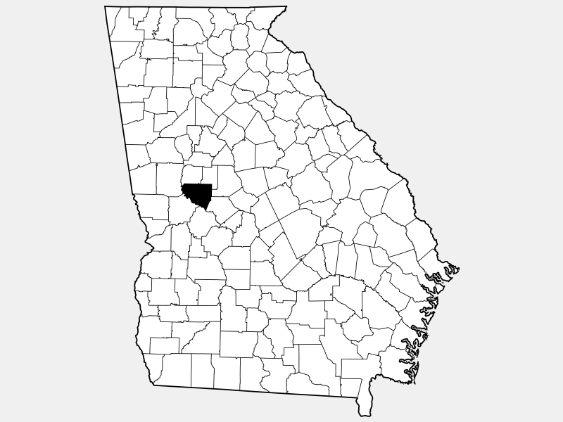 Upson County locator map