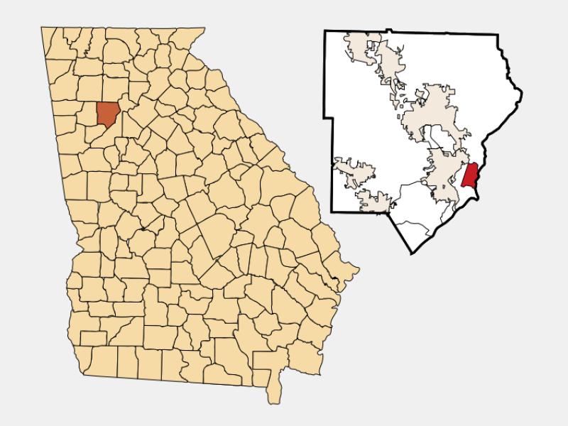 Vinings locator map