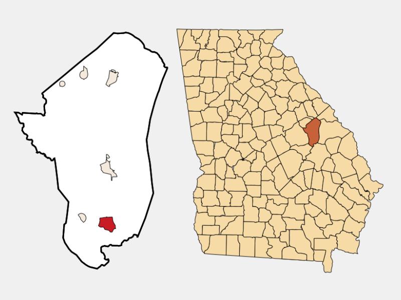 Wadley locator map