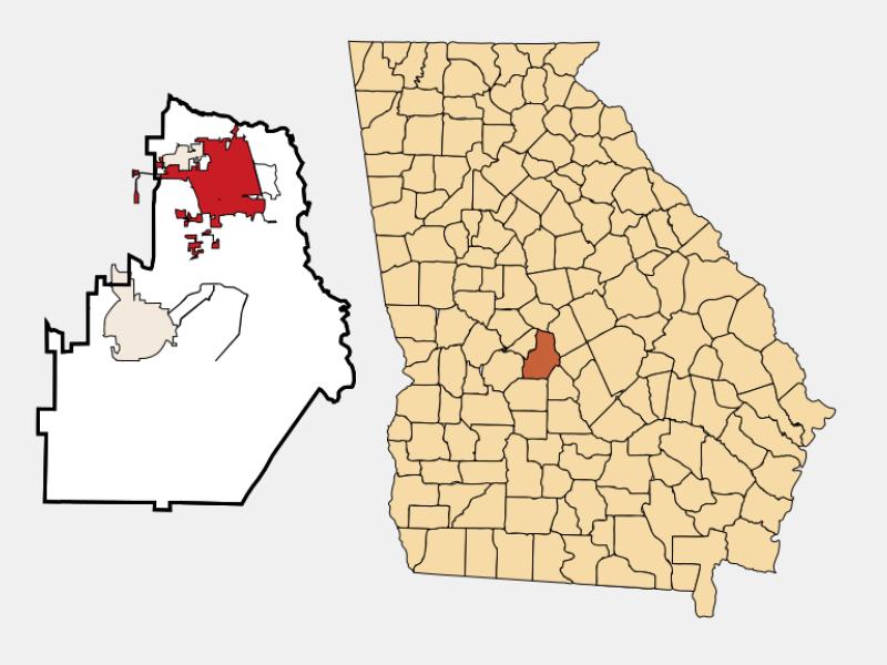 Warner Robins locator map