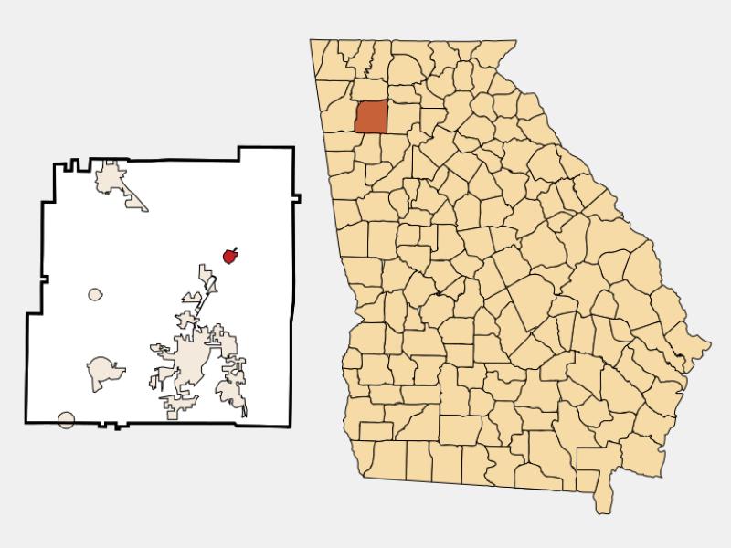 White locator map