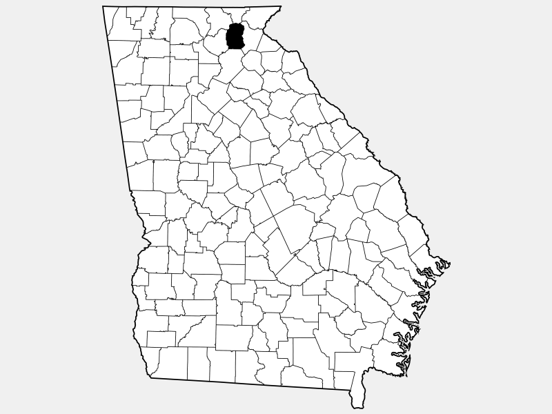 White County location map