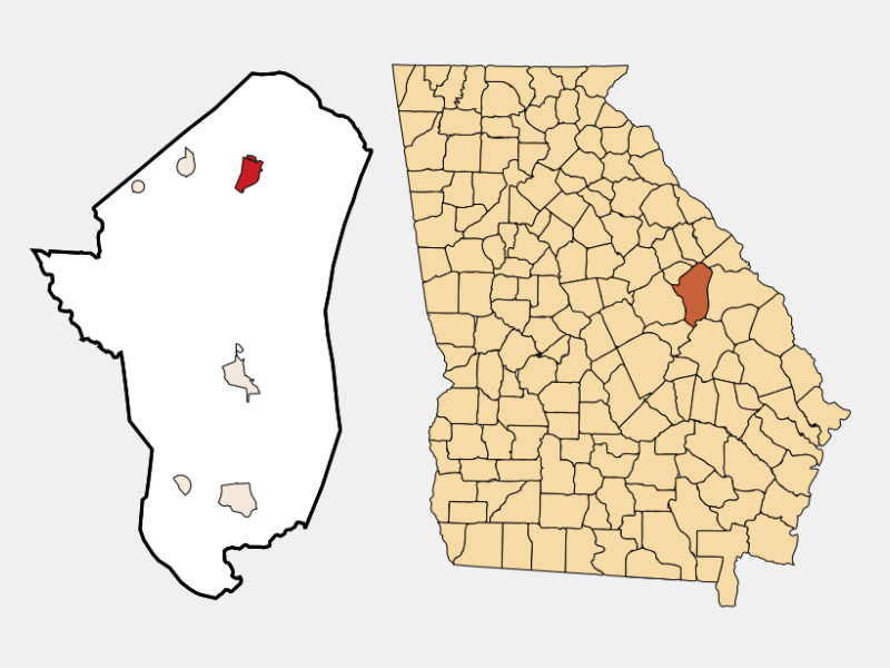 Wrens locator map