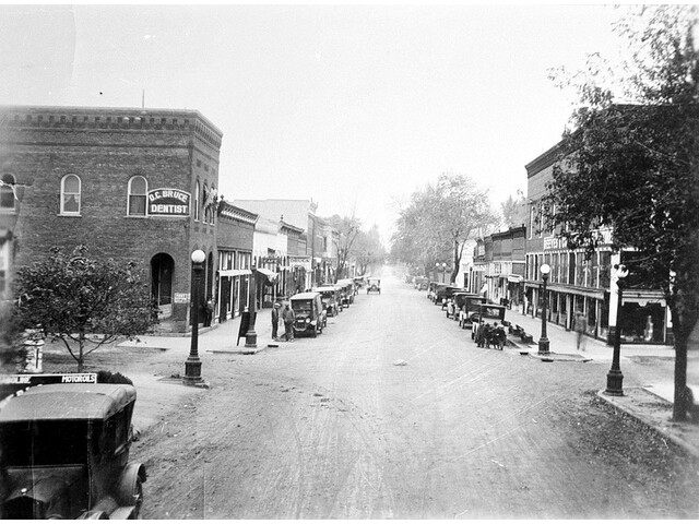 100 Block South Vine street looking South from railroad. image