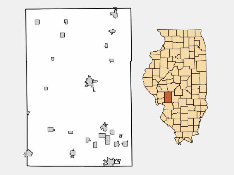 Benld locator map