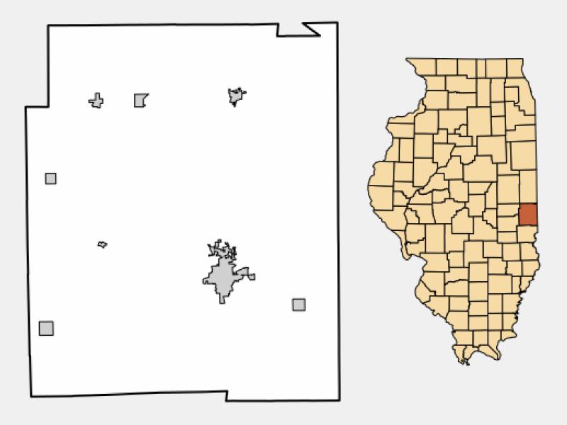 Chrisman location map
