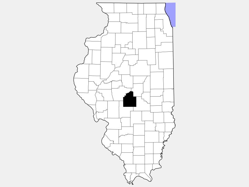 Christian County locator map