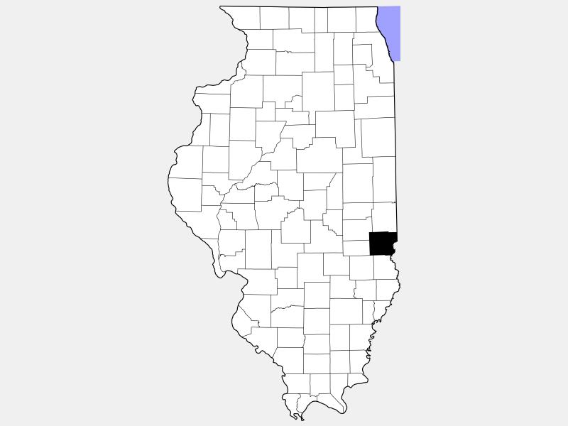 Clark County locator map