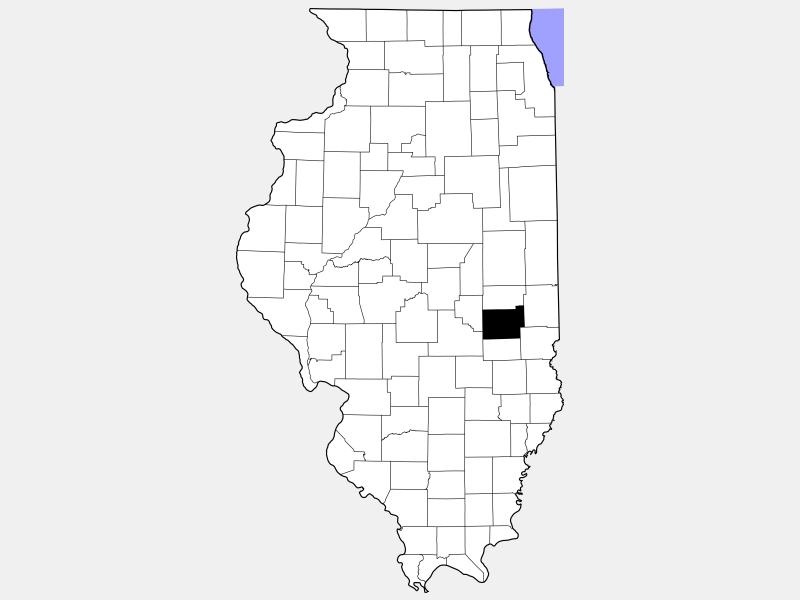 Coles County locator map