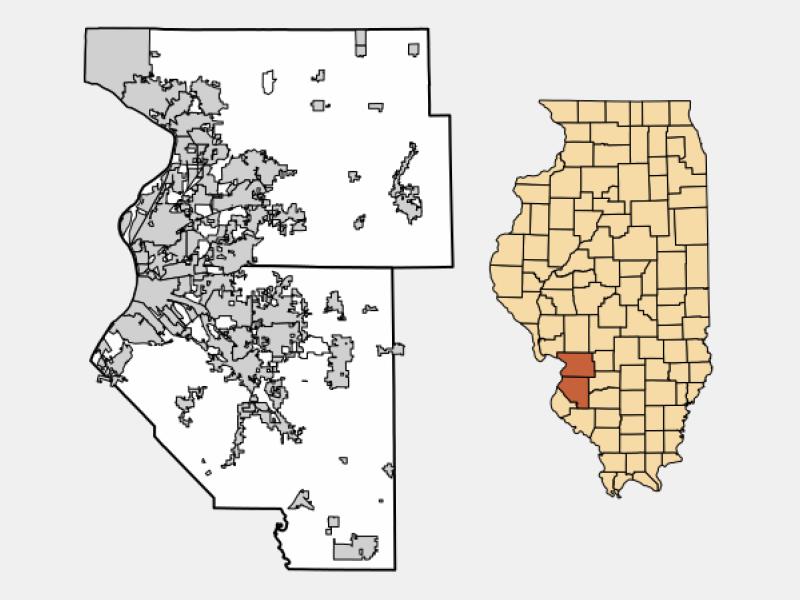 Collinsville locator map