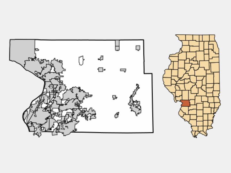 East Alton locator map