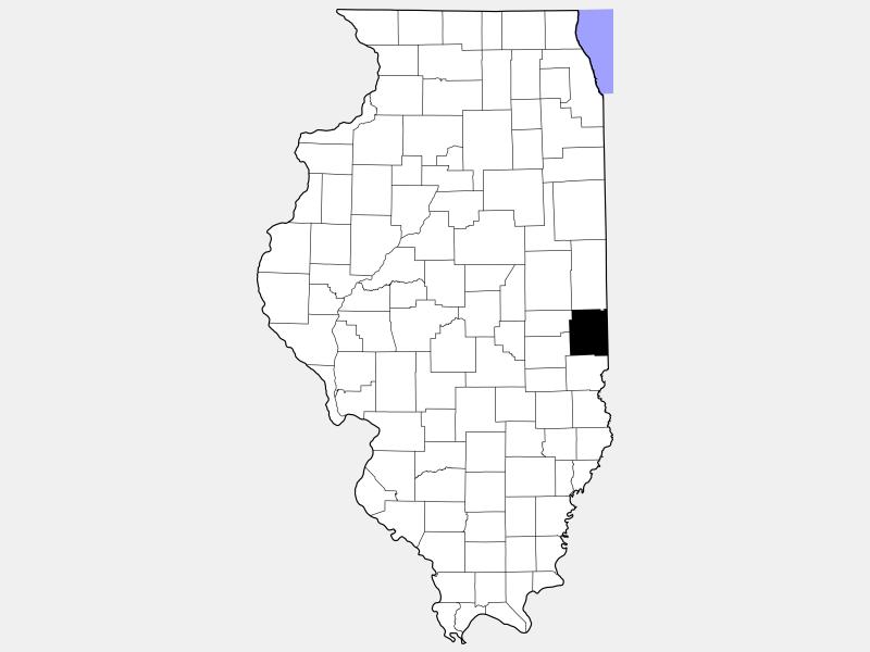 Edgar County locator map