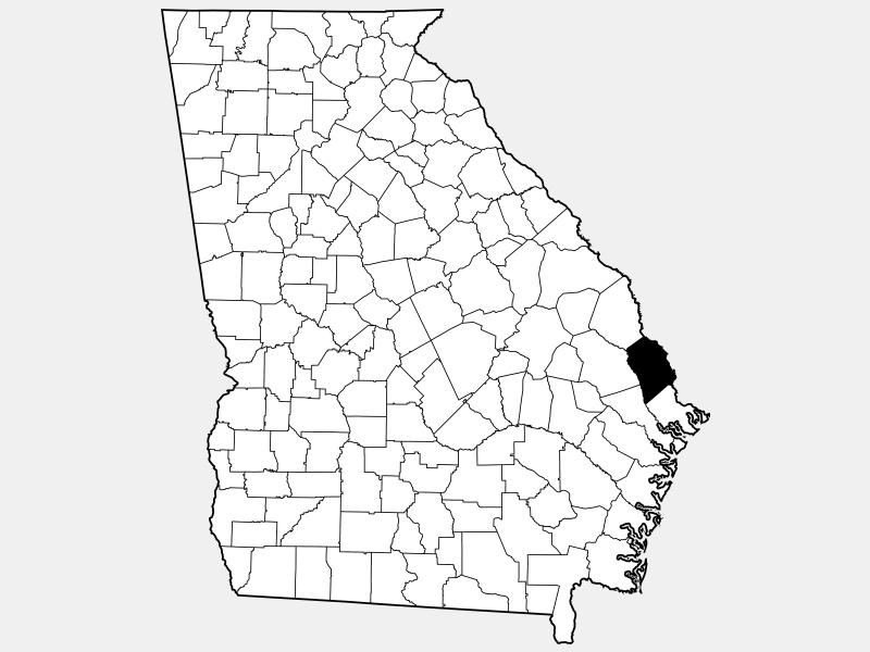 Effingham County locator map