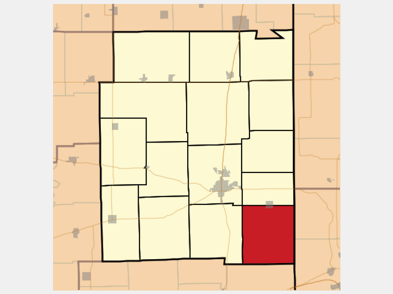 Elbridge locator map