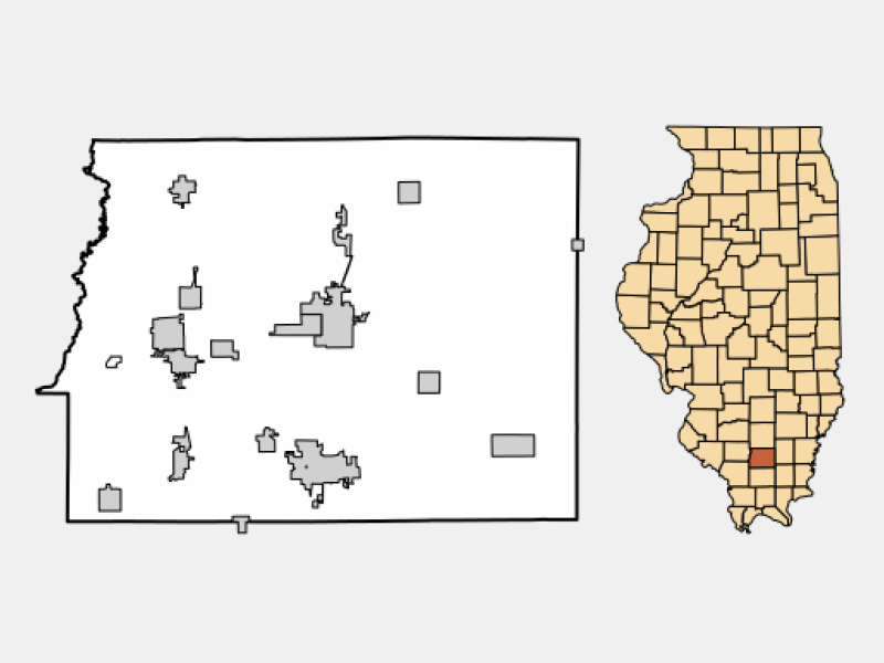 Ewing locator map